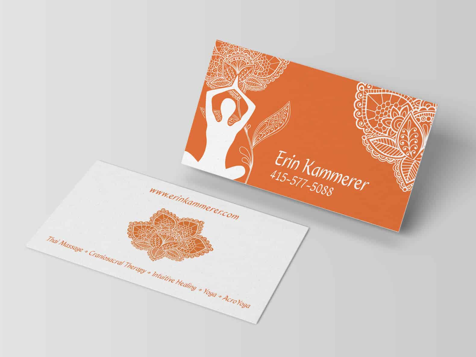 Erin Kammerer - Business Card Design - Graphic Design, Logo Design ...