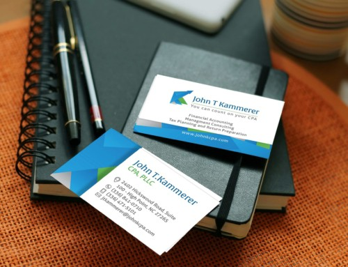 John T Kammerer Accountant – Business Card design
