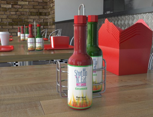 Shut Up N Eat Hot Sauce – Labels Design