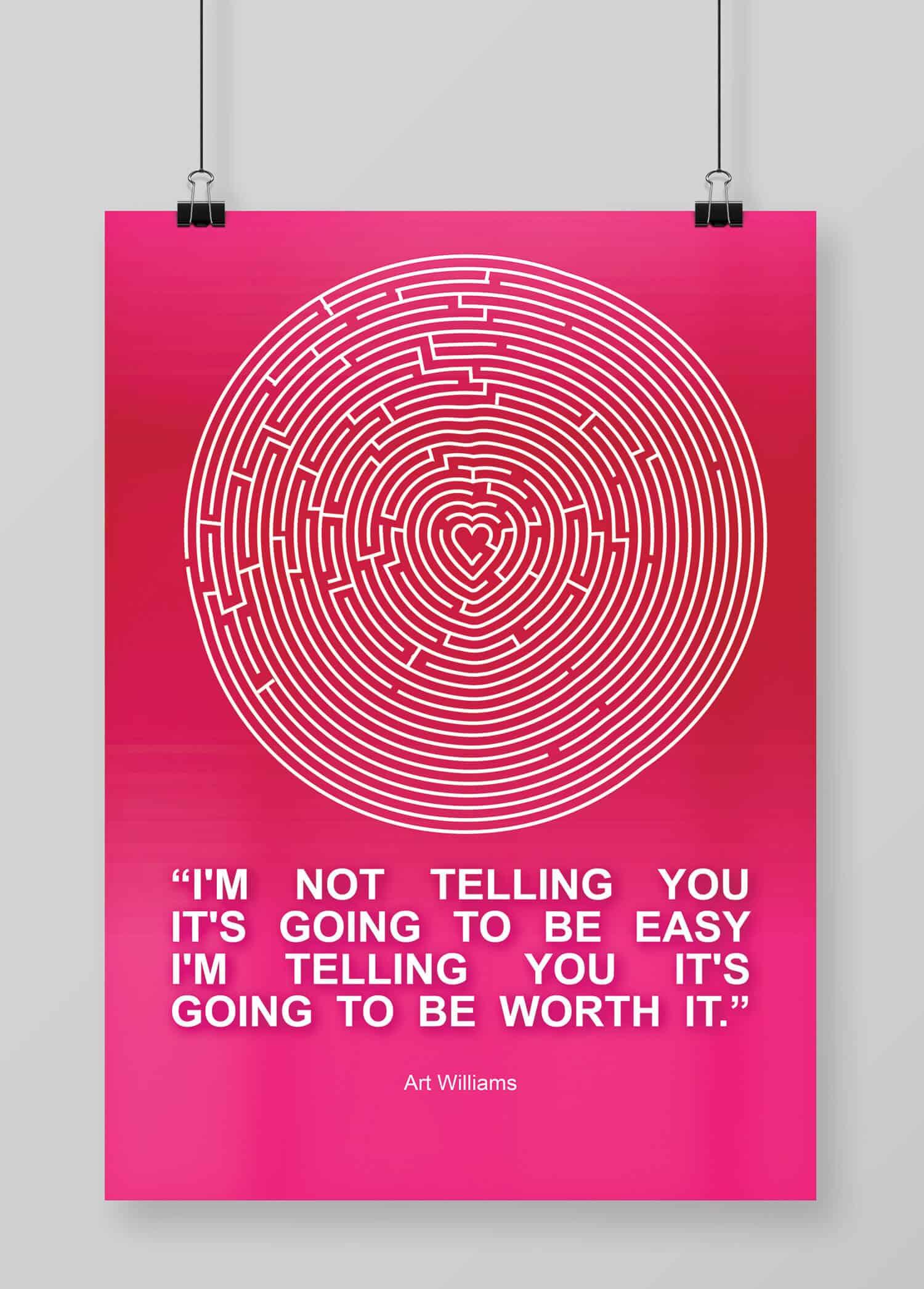 Quotes Design Quotes Design  Love Maze  Poster Design  Graphic Design Logo