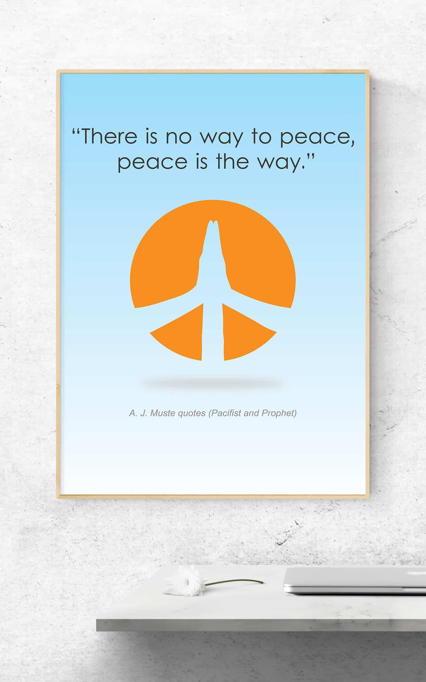 Quotes Design Quotes Design  Peace  Poster  Graphic Design Logo Design & Web