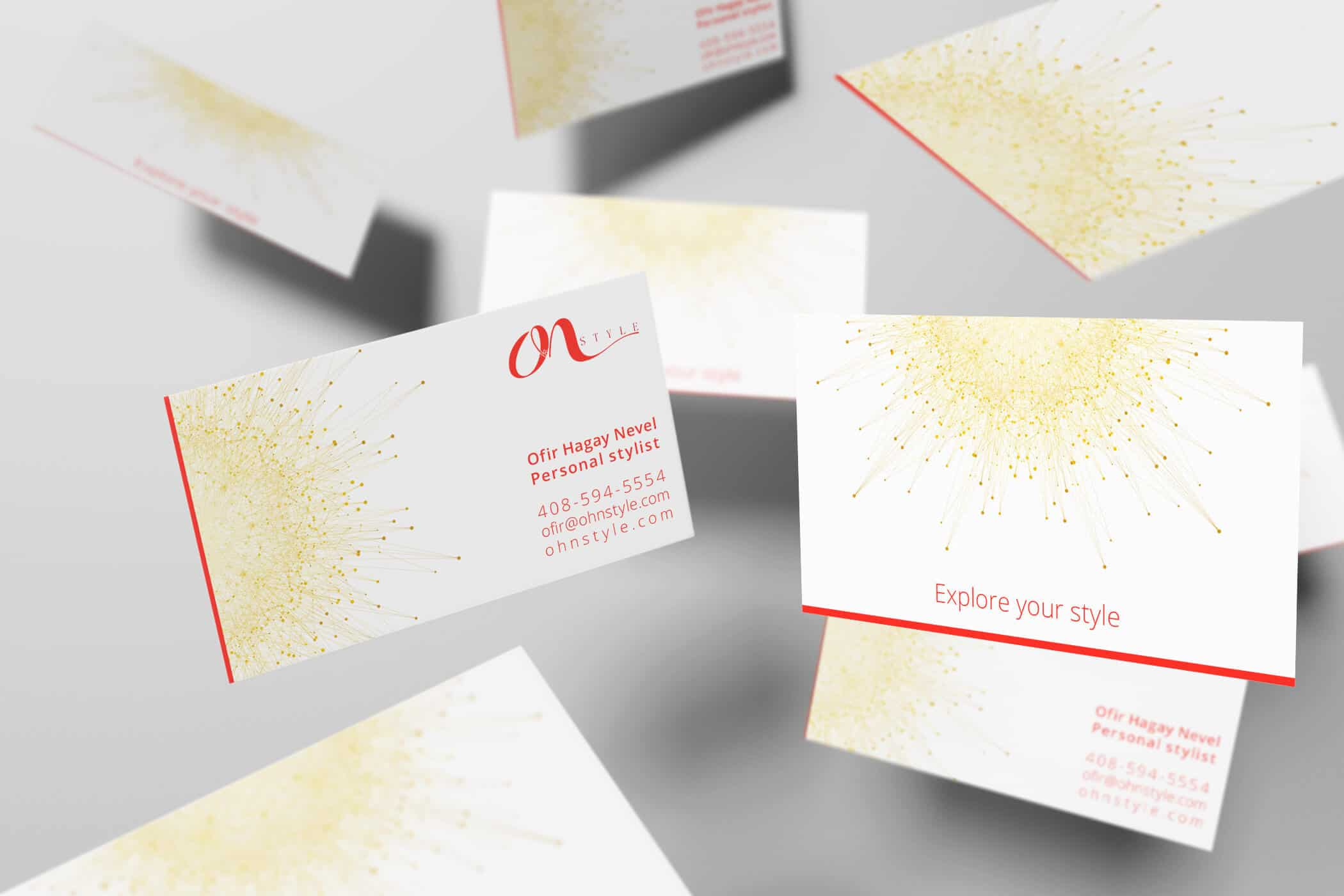 OhN STYLE - Personal Stylist - Business Card Design - Graphic Design ...