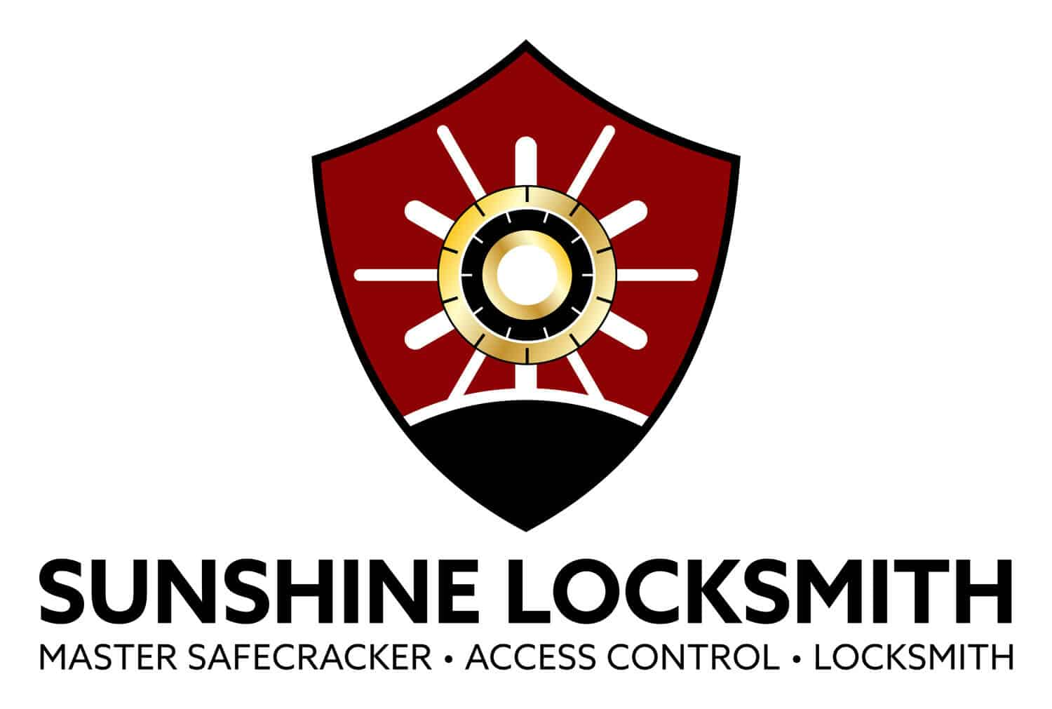 SUNSHINE_LOCKSMITH_Logo_Design_By_UziMedia