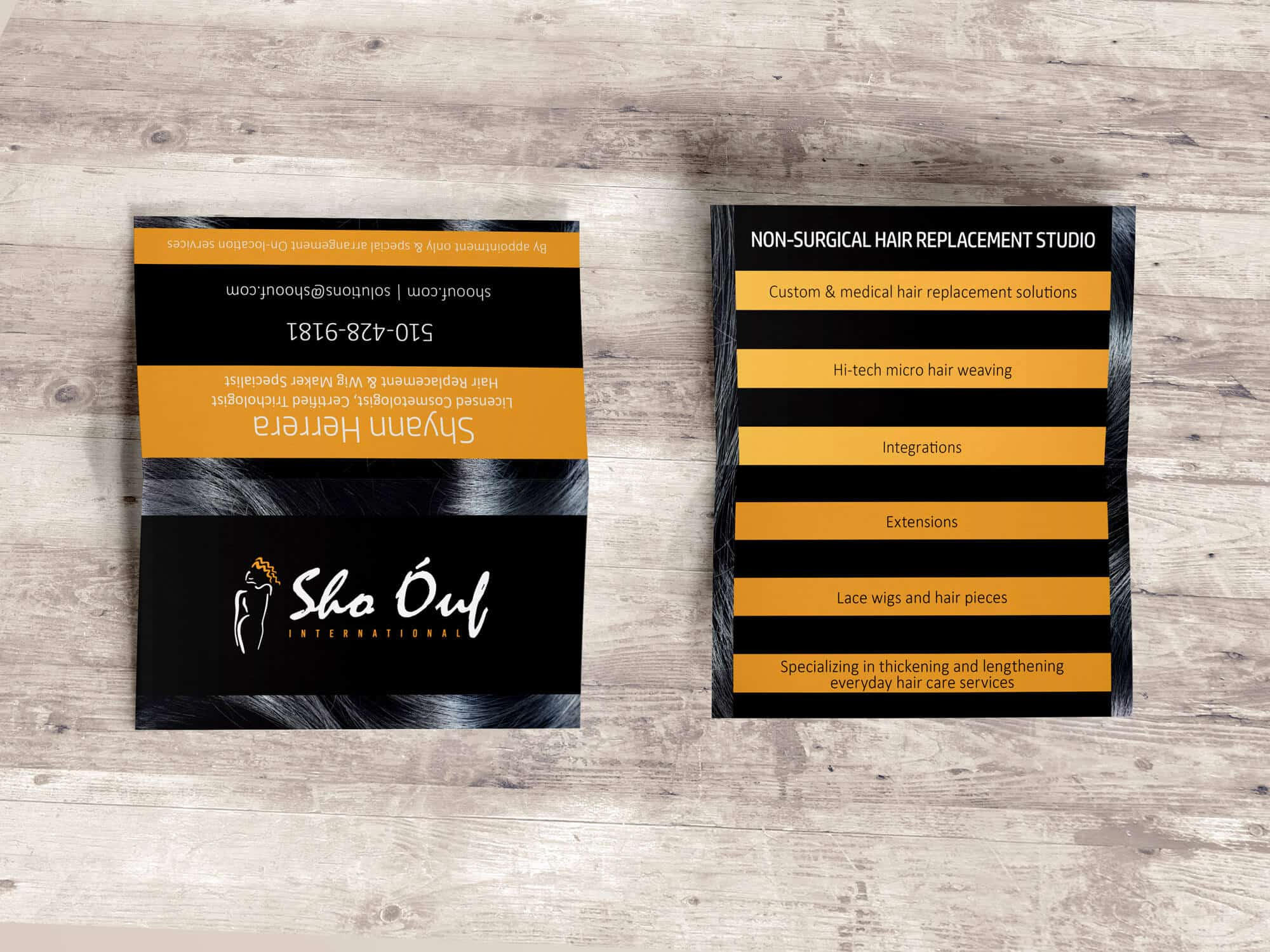 Sho Ouf - Two Sided Folded Business Card Design - Graphic Design ...