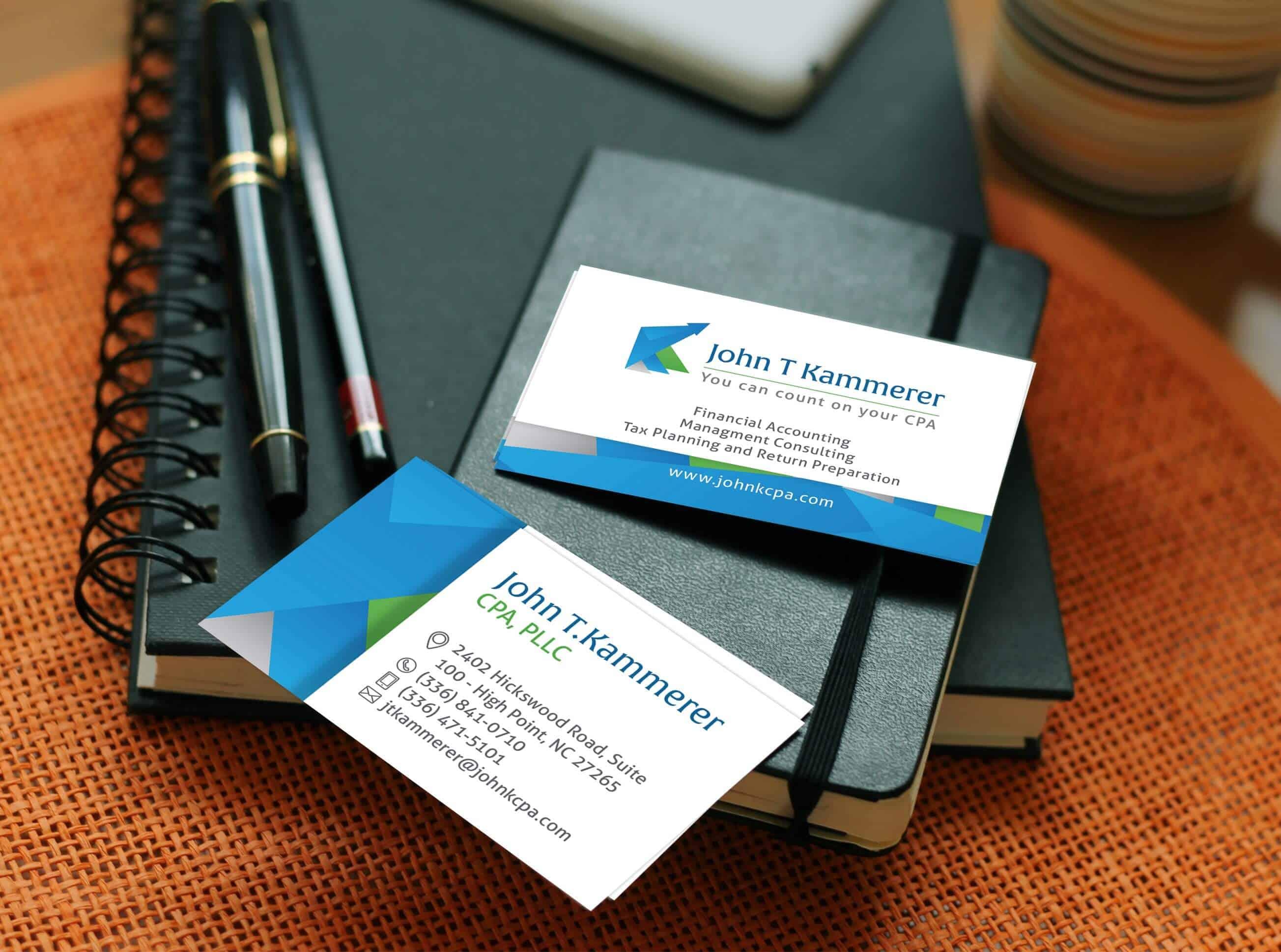 John T Kammerer Accountant – Business Card design