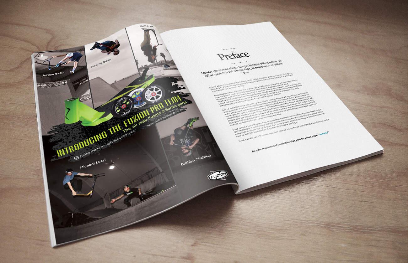 Fuzion – Magazine Ad Design
