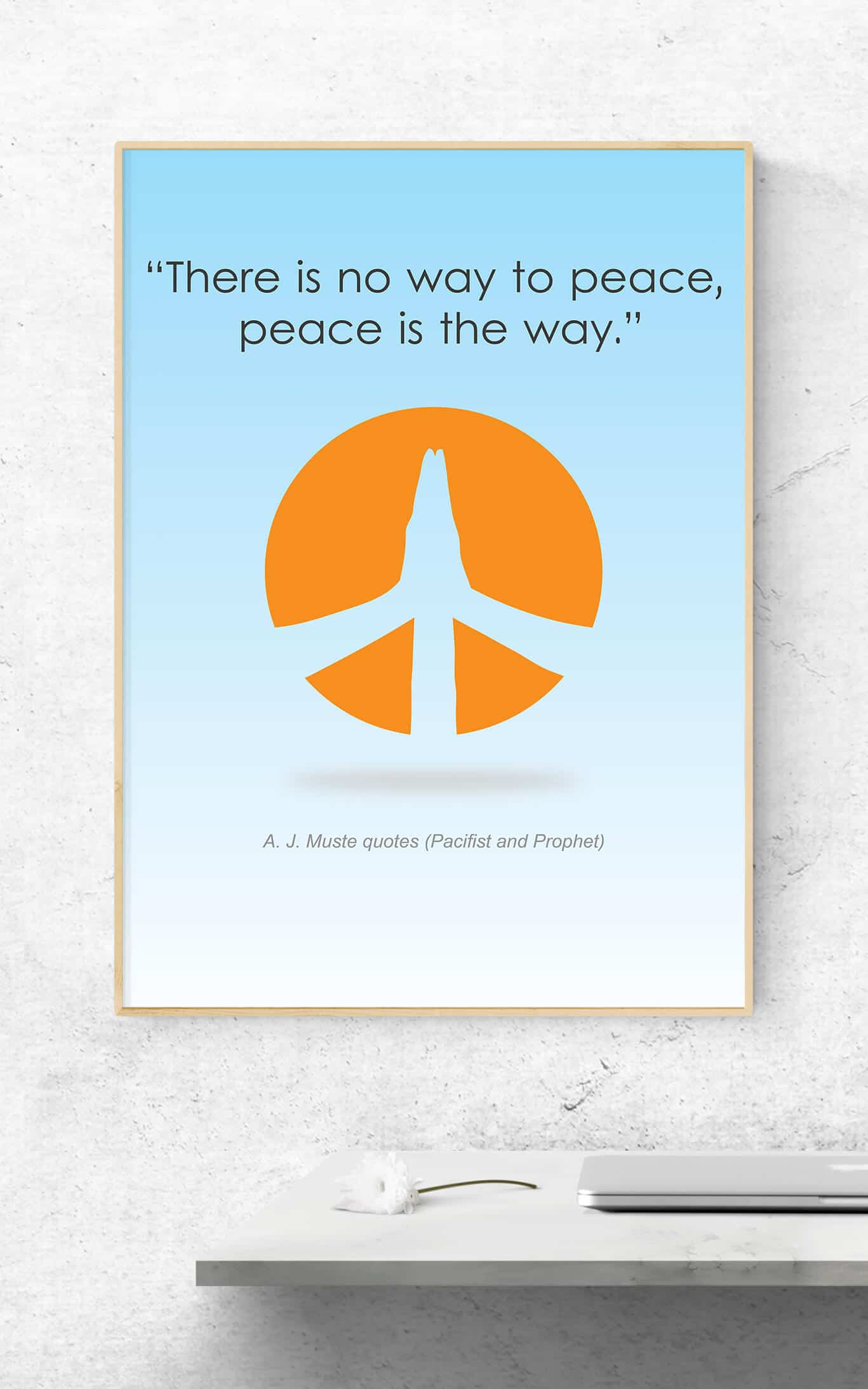 Quotes Design Peace Poster Graphic Logo Web Design In The