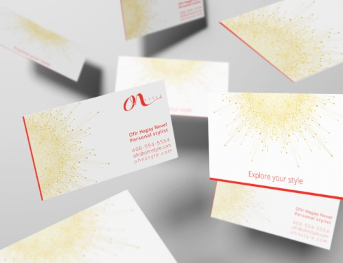OhN STYLE – Personal Stylist – Business Card Design
