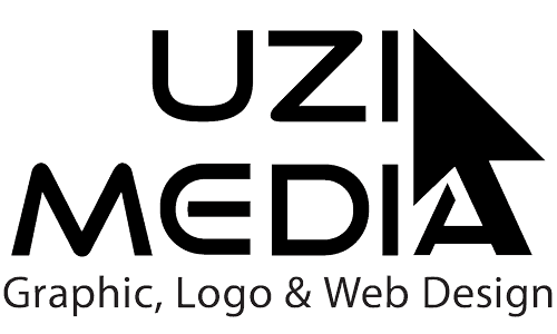 Graphic, Logo & Web Design in the Berkeley, Oakland, San Francisco, Silicon Valley, Scotts Valley, Santa Cruz, CA Bay Area providing high-quality, creative, professional print & screen design services | UziMedia Retina Logo