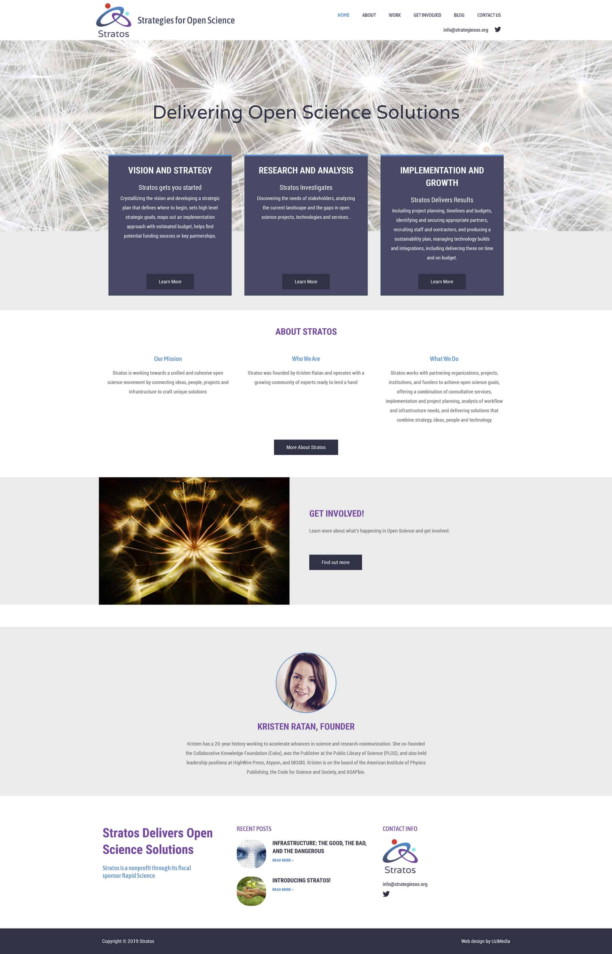web design in the bay area by uzimedia for Non Profit Organization Stratos Strategies for Open Science